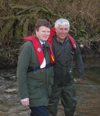 Getting the ear of Government - your's truly with Fisheries Minister Richard Benyon.