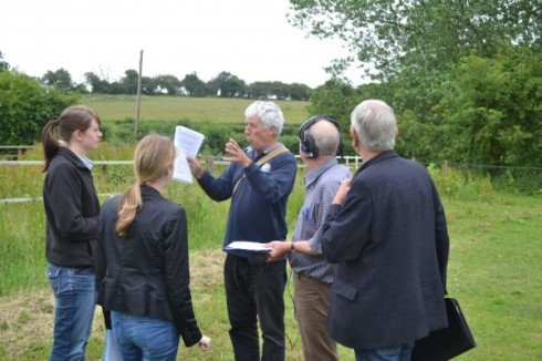 The Face the Facts team with Dave Stimpson from the River Beane Restoration Association, Charlie Bell from The Herts & Middx Wildlife Trust and yours truly in full rant !