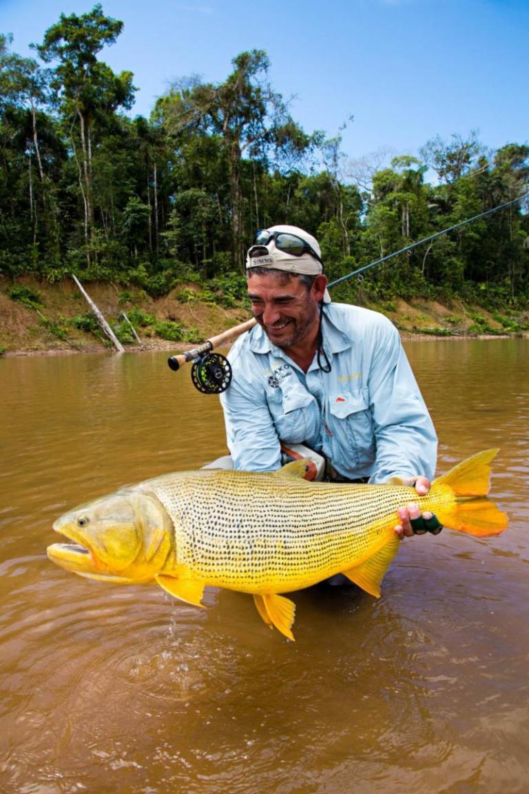 Matt Harris with a stunning looking fly caught golden dorado