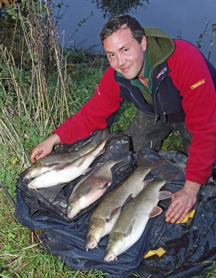 No big fish lottery on the Wye as even this great barbel bag wasn't enough