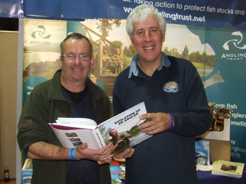 Martin with Duncan Charman checking out some of their favourite Loddon swims featured in Duncan's new book 'Evolution of an Angler'