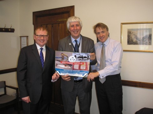 Martin Salter drumming up support from MPs for the Angling Trust's Action on Cormorants campaign