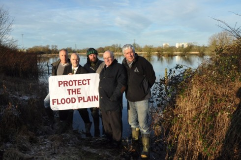 Martin Salter with some of campaigners who have spent years protecting the Kennet water meadows from harmful development