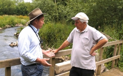 Australian Conservation manager on his recent visit to the Uk where he was impressed by habitat improvement projects including this fish pass on Berkshire's River Loddon