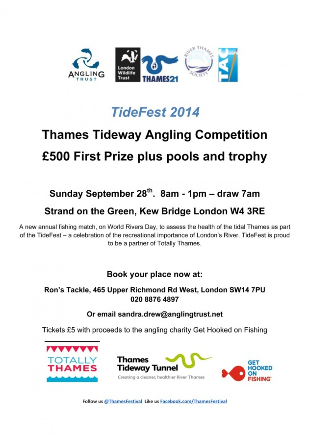 Another great new river match which will help assess the health of the improving Thames Tideway