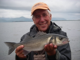 First bass of the year brings a big Irish smile after an epic take on a Spro surface shad
