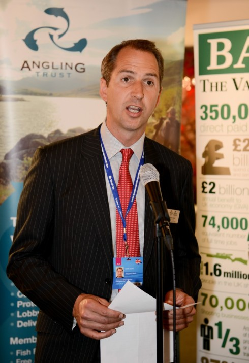 Angling Trust CEO Mark Lloyd telling the politicians a few home truths about the plight of bass stocks in Britain