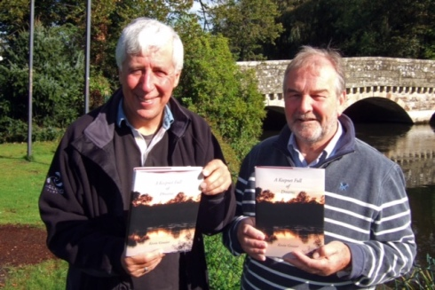 Joining angling author Kevin Grozier at the launch of his new book on the banks of the Avon at Ringwood