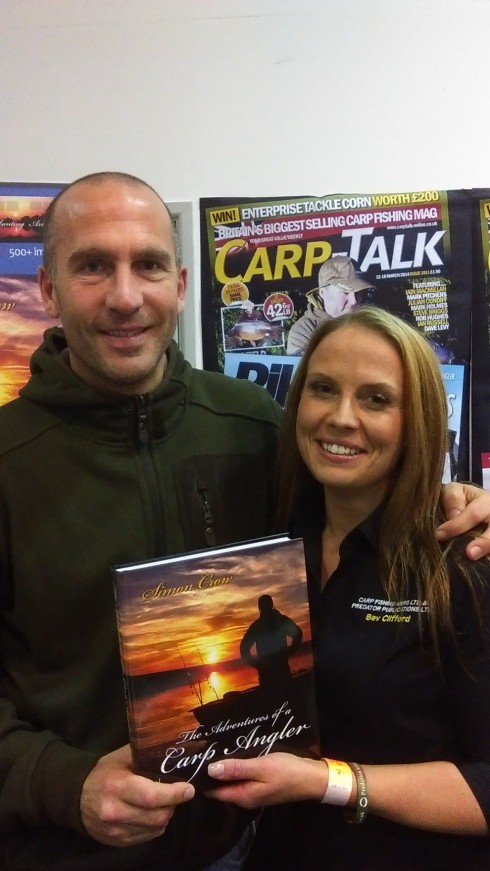 Simon Crow and Beverley Clifford from Carp Talk - these two certainly had something to say on the charges for multiple rod licences !