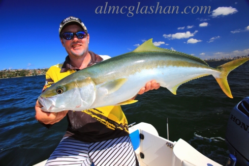 My good friend Al McGlashan with a lovely Australian kingfish - these are some of the toughest fighters around