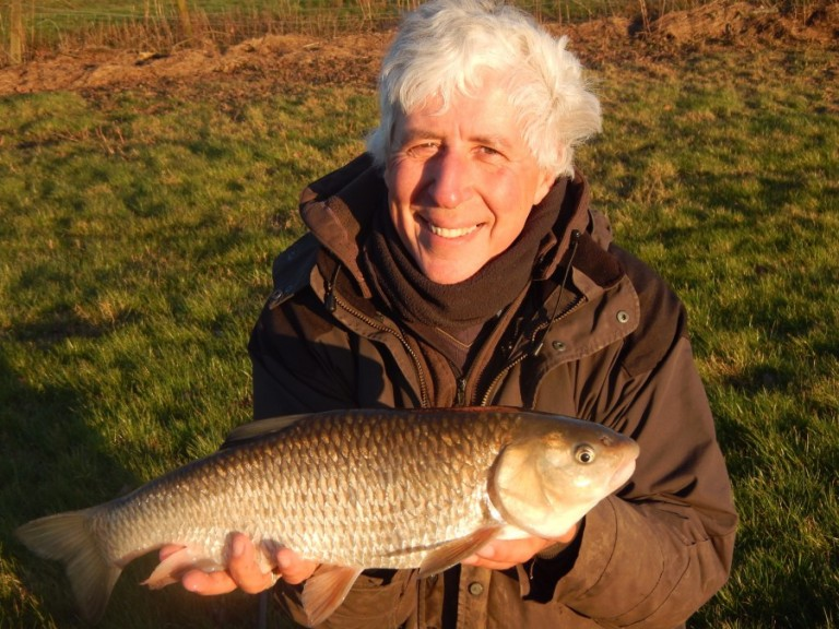 These chunky cheese loving Loddon chub are fighting fit this time of year. This one went 5.06 and did a fine impersonation of a barbel for while !