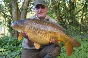 And the final fish of the trip was this lovely fully scaled mirror of 30.08 to my mate Mike Robinson.