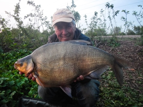 A big, beautiful Walthamstow bream of 13lbs 6ozs - new personal best for a happy Martin
