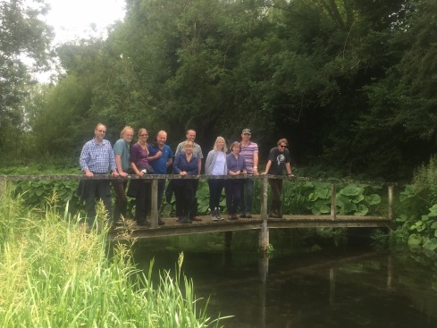 Martin joined Mark Owen from the Angling Trust and the EA's Head of Fisheries and Biodiversity Sarah Chare on a visit to look at some great habitat improvements on the upper Kennet. However, proceedings were distracted by news of the Australian batting collapse!