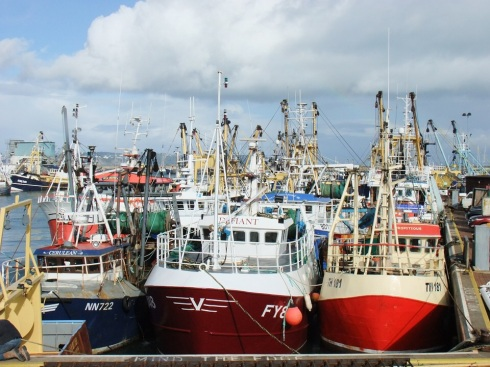 UK fishing vessels have rights within the 6-12 mile limit of four other EU member states: Ireland, Germany, France and the Netherlands. Trawlers out of Brixham exploit the valuable scallop stocks in the Baie de Seine. Trawlers out of Peterhead fish in Dutch and German waters. It is important to note that the UK is allocated about 30% of the EU's total catch even though it has only 13% of the total sea area.