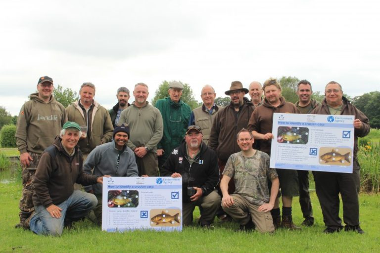Launching Catch a Crucian Month down at Marsh Farm in Surrey with members of the Association of Crucian Anglers