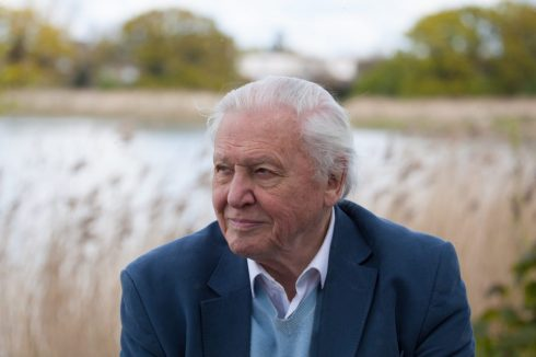 Sir David Attenborough at the opening of the Woodberry Wetlands in London