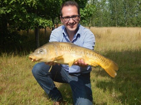 Owen Smith MP with a nice fly caught carp.
