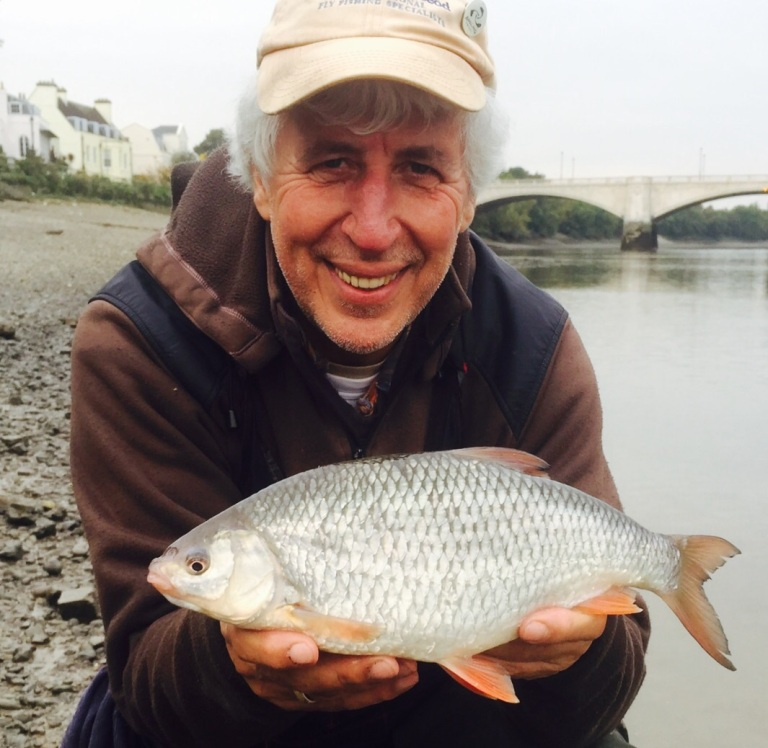 Martin's first ever two pound roach from the Thames - and in the middle of London !
