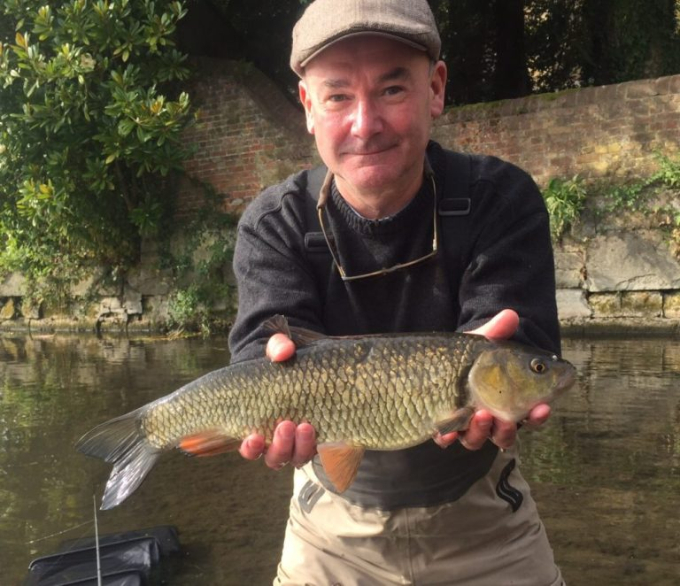 One happy MP - Jon Cruddas with one of a huge chub haul taken in the shadow of Longford Castle